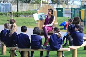Header image for Foster a Love of Storytelling in Your Playground blog post