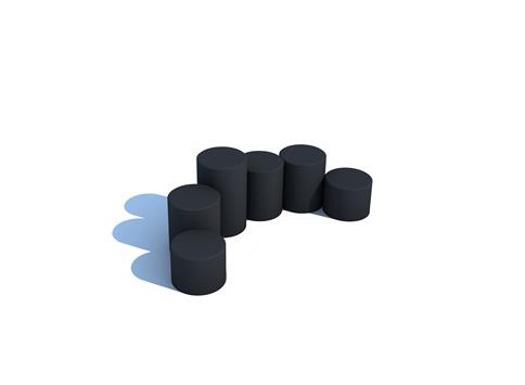 Rubber Stepping Logs (6)