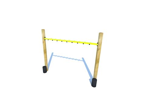 Monkey Bars with Step Up Logs