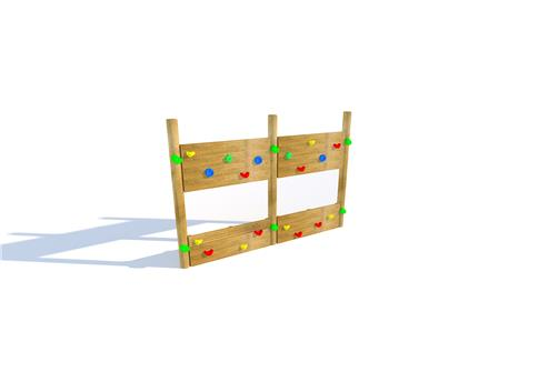 Single-Sided Timber Climbing Wall