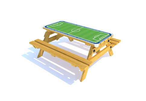Picnic Table with Football Gametop