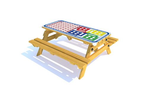 Picnic Table with Connect 4 and Ludo Gametop
