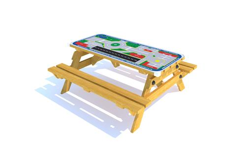 Picnic Table with Playtown Gametop