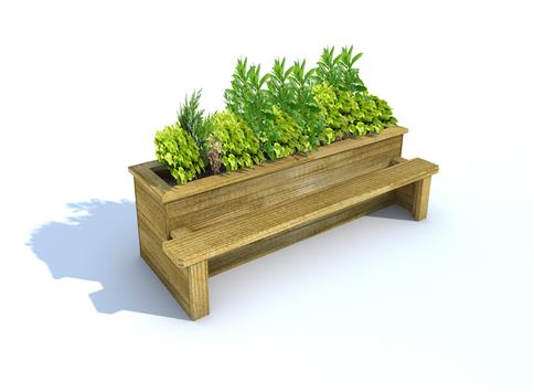 Straight Planter Bench