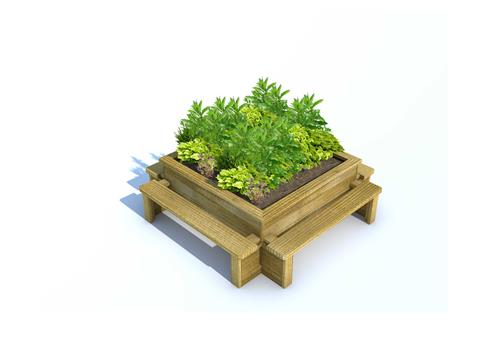 Four Seat Planter Bench