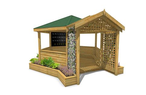 5M Hexagonal Secret Garden Gazebo
