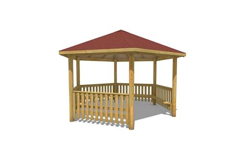5M Hexagonal Gazebo