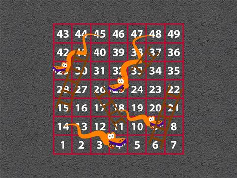 1-49 Snakes and Ladders (Outline)
