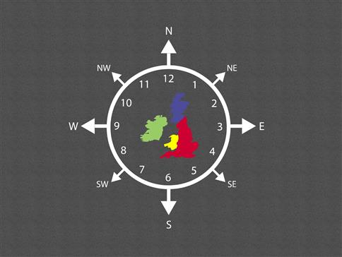 Compass Clock Map