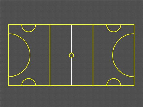 Netball/Mini Football Court (Outline)