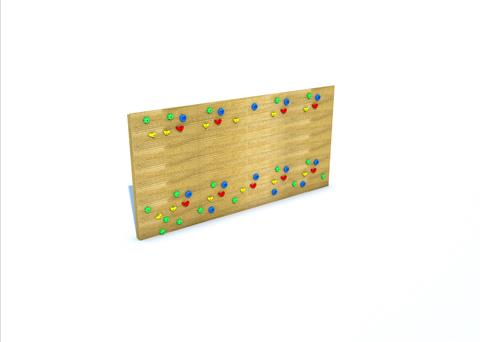 Timber Goal Target with Climbing Wall