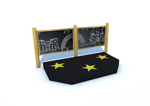 Mini Performance Stage with Chalkboard