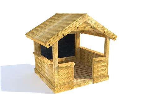 Small Playhouse with Walls and Chalkboard