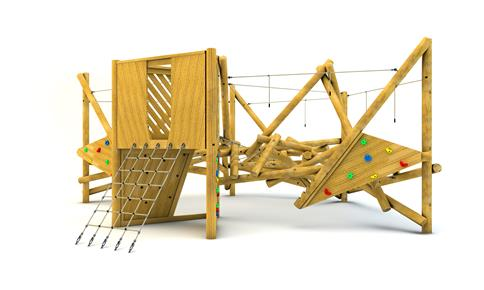 Crinkle Crags Climber with Platform and Climbing Net