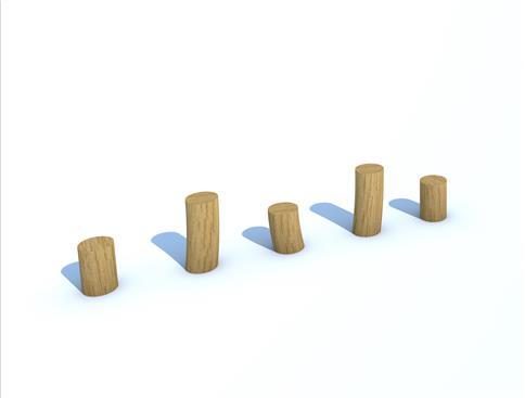 Robinia Stepping Logs (set of 5)