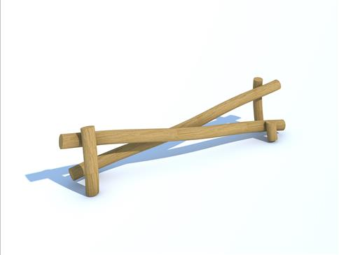 Robinia Twin Inclined Balance Beam