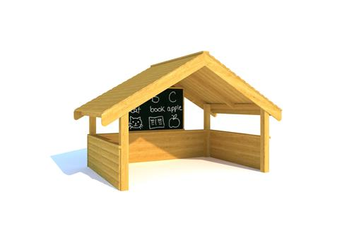 Giant Playhouse with Walls and Chalkboard