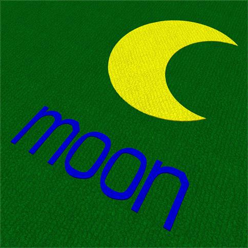 Saferturf Moon with Text