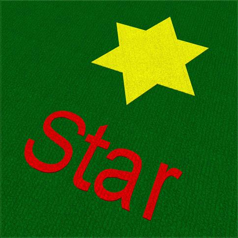 Saferturf Star with Text