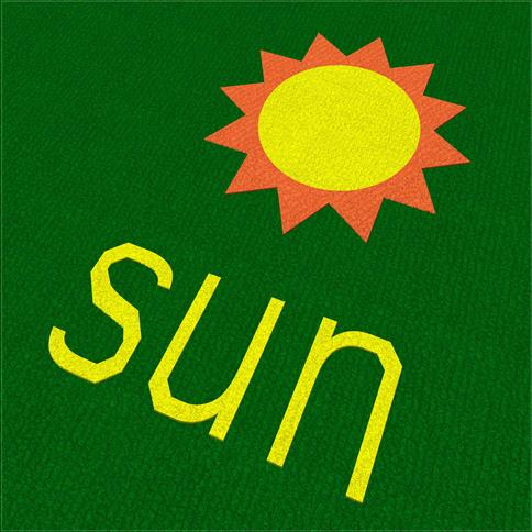 Saferturf Sun with Text