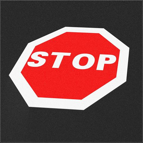 Wetpour Stop Sign