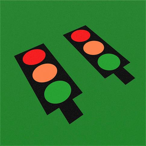 Wetpour Traffic Light