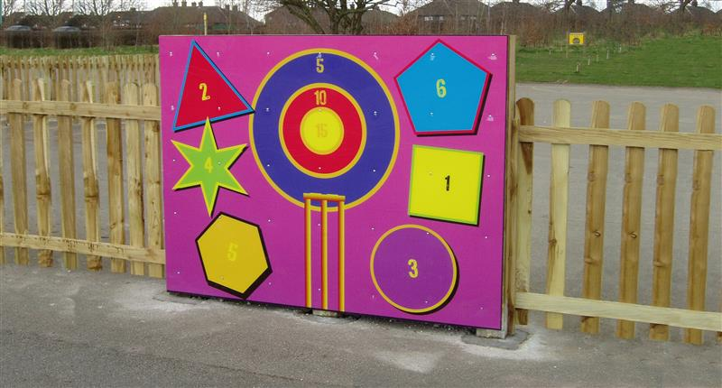 Playground Shapes Target Pentagon Play