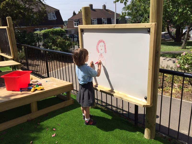 Giant Outdoor Whiteboard Pentagon Play