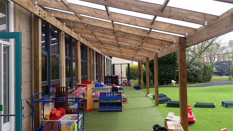 Bespoke Timber Canopies For Schools Pentagon Play