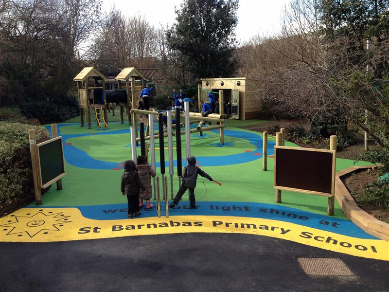 Bespoke wetpour design pentagon play - Playground surfaces for home ...