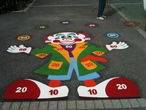 Full Clown Target