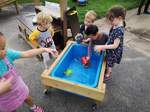 Water Table on Wheels