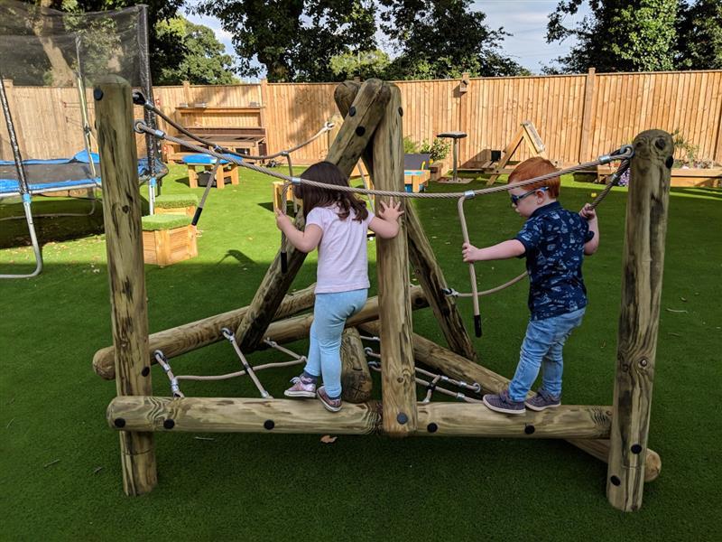 Pinnacle Hill Climbing Frame For Nursery Pentagon Play