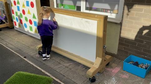 Interactive Whiteboard Panel on Wheels