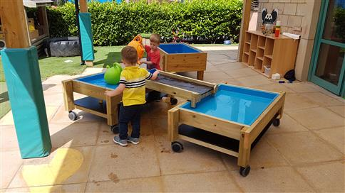 Messy Play Tables on Wheels
