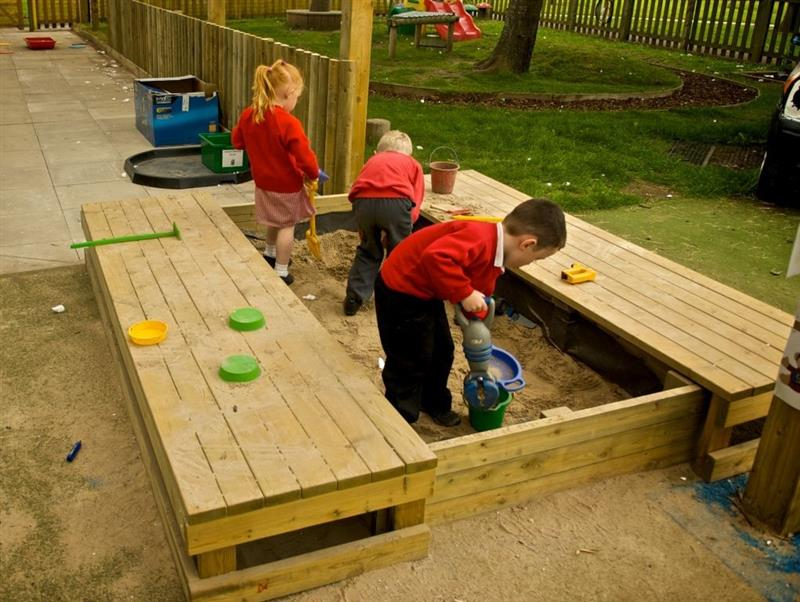 Large Sand Box With Cover | Pentagon Play