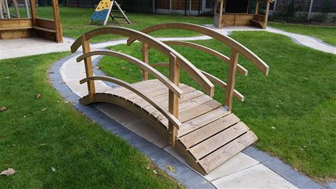 Arched Bridge with Bow Top Fence Sides