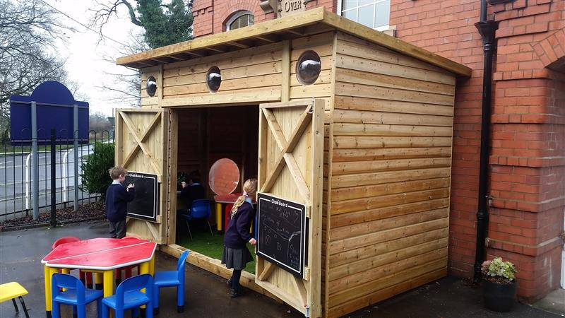 Play Cabin for playground storage
