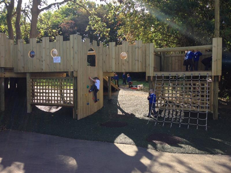 St Peters Primary School's bespoke tree house