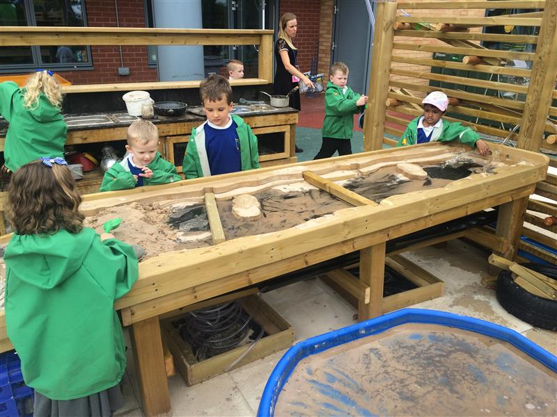 Bespoke Early Years Playground Equipment for mud and sand play