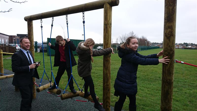 Trim Trail at Ibstock Primary School