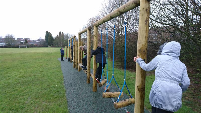 Fun Trim Trail at Ibstock Primary School by Pentagon Play