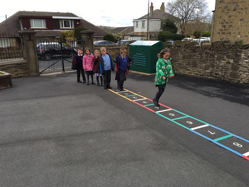 Number ladder - School Playground Markings