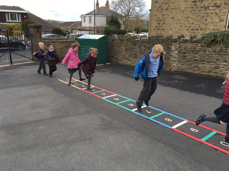 Playground Markings - Number Ladder