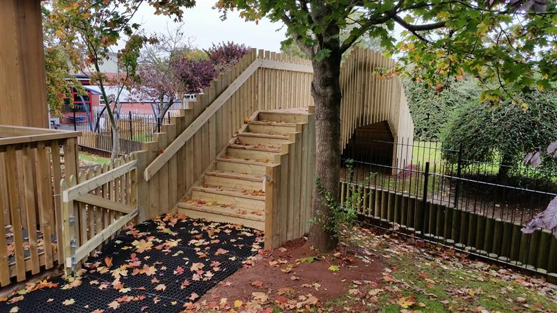 West Town Lane Bespoke Bridge for the playground