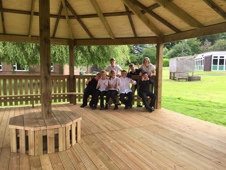 Walton Hall Academy's Outdoor Classroom Gazebo | Pentagon Play
