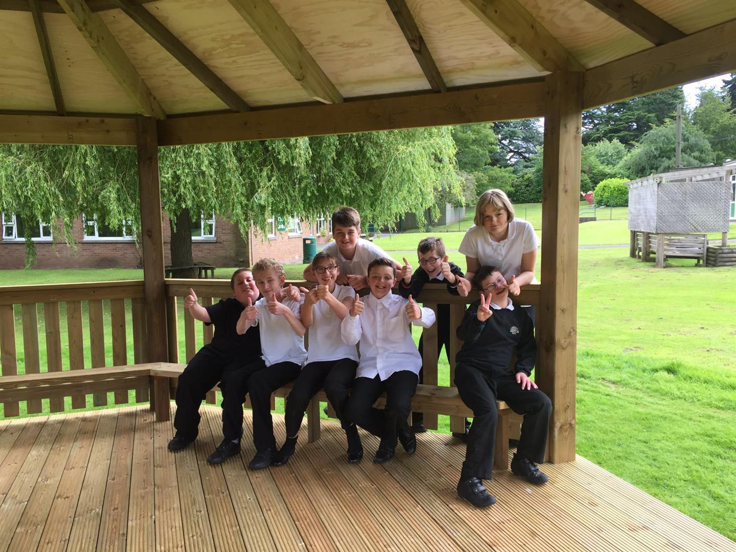 Walton Hall Academy S Outdoor Classroom Gazebo Pentagon Play