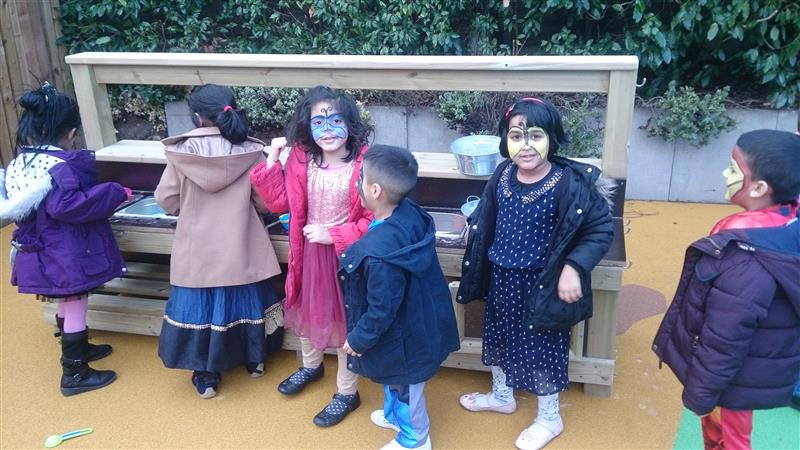 Mud Kitchen, ideal for pancake day