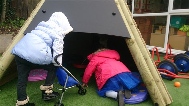 Pentagon Play WigWam for eyfs school playgrounds