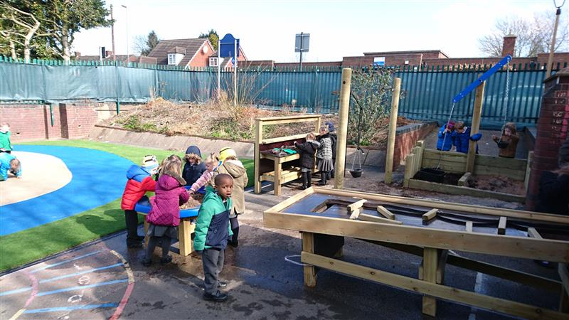 Messy Play zone for EYFS playgrounds